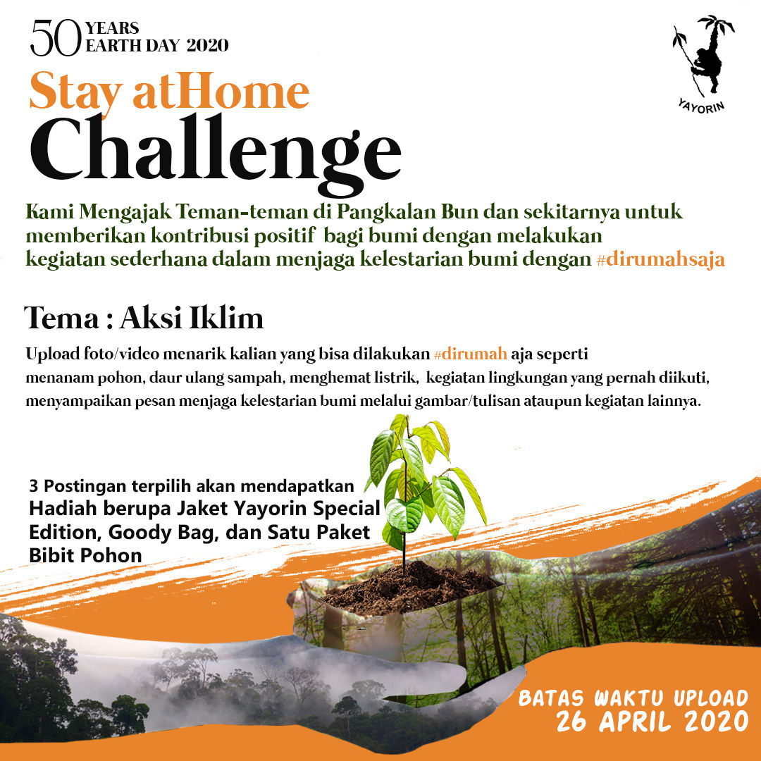 Stay At Home Challenge : 50 Years Earth Day 2020